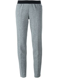 Moncler Tapered Knit Trousers Grey