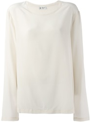 Barena Loose Crepe Top Nude And Neutrals