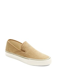 Polo Ralph Lauren Mytton Burlap Slip On Sneakers Tan
