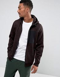Abercrombie And Fitch Zipfront Hoodie Sports Fleece In Red