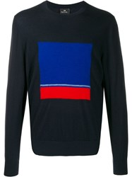 Paul Smith Ps Abstract Pattern Jumper Blue