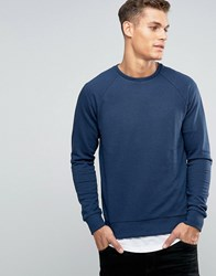 Esprit Sweat With Crew Neck And Raglan Sleeve Navy 400