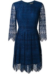 Twin Set Embroidered Dress Blue