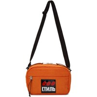 Heron Preston Orange Style Dots Camera Bag
