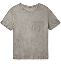 Massimo Alba Garment Dyed Cotton Jersey T Shirt Light Gray