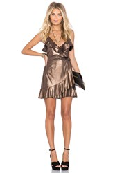 Nbd Su2c X Revolve Dancin Queen Mini Dress Metallic Copper