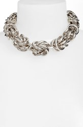 Alexander Wang Knot Link Necklace Silver