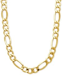 Macy's Men's Figaro Link Chain Necklace In 10K Gold Yellow Gold