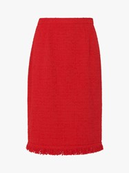 Lk Bennett L.K.Bennett Myia Ruffle Trim Pencil Skirt True Red