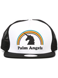 Palm Angels Logo Print Cap White