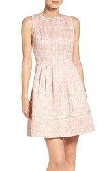 Vince Camuto Women's Jacquard Fit And Flare Dress