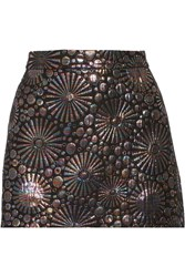Rebecca Minkoff Reims Metallic Jacquard Mini Skirt Black