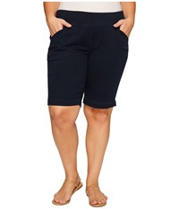 Jag Jeans Plus Size Ainsley Classic Fit Bermuda In Bay Twill Nautical Navy Women's Shorts