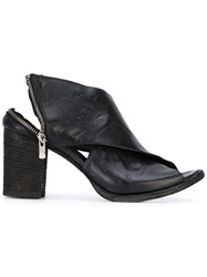 Officine Creative Devos Heeled Mules Women Leather 37.5 Black