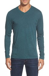 Men's Agave 'Walter' Long Sleeve V Neck T Shirt Jasper Green