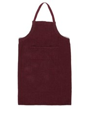 Once Milano Crushed Linen Apron Dark Red