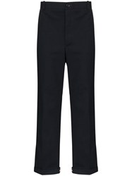 Thom Browne Straight Leg Trousers Blue