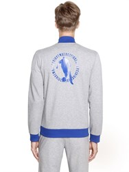 Dirk Bikkembergs Logo Zip Up Stretch Cotton Sweatshirt