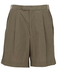 Kolor Pleated Shorts Green