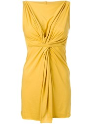 Rick Owens Lilies Gathered Detail Top Yellow