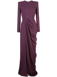 Alex Perry Side Slit Evening Gown Purple