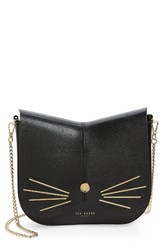Ted Baker London Cat Leather Crossbody Bag Black
