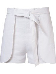Giuliana Romanno Side Panels Shorts White
