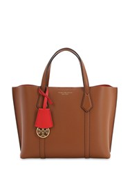 Tory Burch Small Perry Leather Tote Bag Light Amber