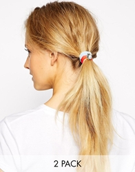 Orelia Gem Stretch Double Row Headband Multi