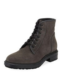 Aquatalia By Marvin K Shearling Lined Suede Boot Charcoal