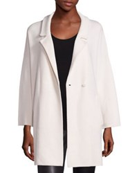 Saks Fifth Avenue Cashmere Jacket Ivory Flannel