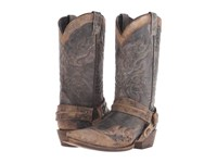Stetson Averell Snip Washed Crater Black Cowboy Boots