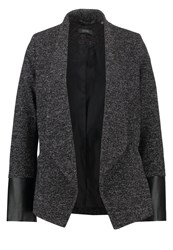 Kiomi Blazer Salt And Pepper Mottled Dark Grey