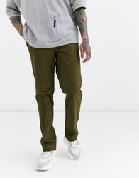 Fred Perry Straight Fit Chino In Khaki Green