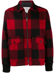 Woolrich Check Pattern Shirt Jacket Red