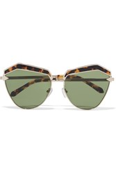 Karen Walker Jacinto Cat Eye Acetate And Gold Tone Sunglasses Tortoiseshell