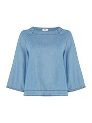 Noa Noa 3 4 Sleeve Blouse Denim