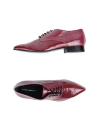 Luca Valentini Lace Up Shoes Maroon