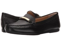 Michael Michael Kors Nadia Moc Black Tumbled Leather Women's Moccasin Shoes