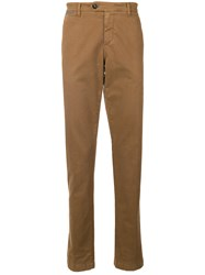 Eleventy Slim Trousers Brown