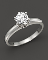 Bloomingdale's Diamond Solitaire Ring In Platinum .70 Ct. T.W. Silver