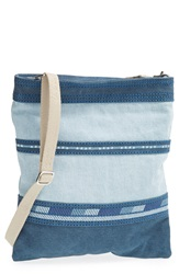 Toms Stripe Denim Crossbody Bag Indigo
