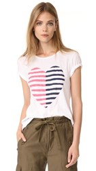 Sundry Split Heart Boy Tee White