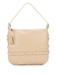 Badgley Mischka Lauren Leather Hobo Bag Latte