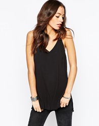 New Look Plunge Longline Cami Black