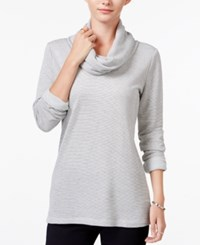 Maison Jules Striped Cowl Neck Top Only At Macy's Grey Combo