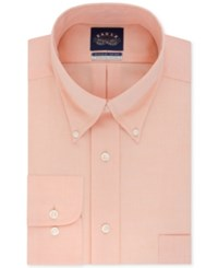 Eagle Men's Big And Tall Classic Fit Stretch Collar Non Iron Solid Dress Shirt Orange