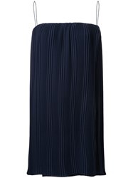 Dion Lee Pleated Blouse Blue