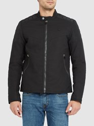 G Star Black Suzaki Quilted Zipped Biker Jacket