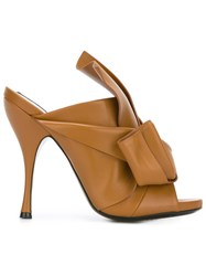 N 21 No21 Bow Mules Nude And Neutrals